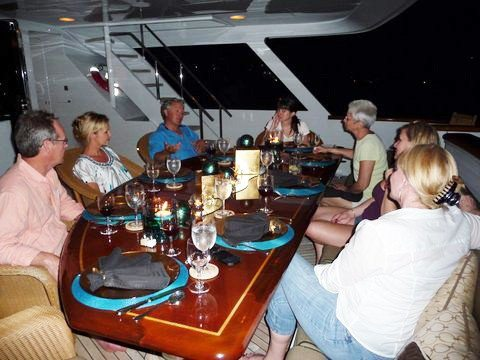 Yacht Encore Aft Dining