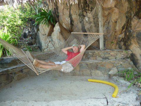 hammock at Bitter End Virgin Gorda BVI