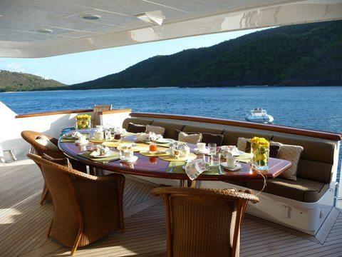 Breakfast on ENCORE BVI Yacht Charter
