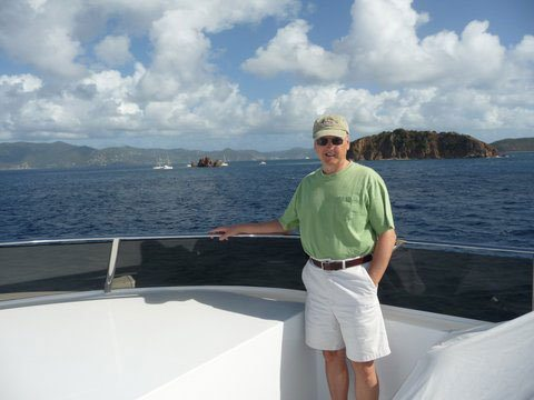 BVI Yacht Charter on Encore. Leaving Norman Island.